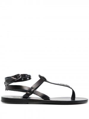 Сандалии с кристаллами Ancient Greek Sandals. Цвет: черный