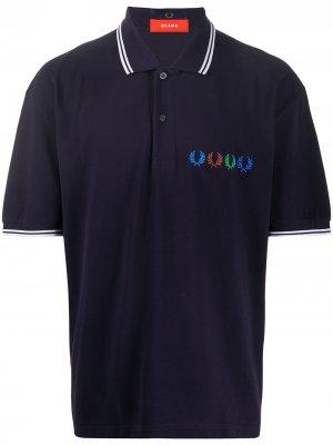 Рубашка поло с контрастной отделкой Fred Perry. Цвет: синий