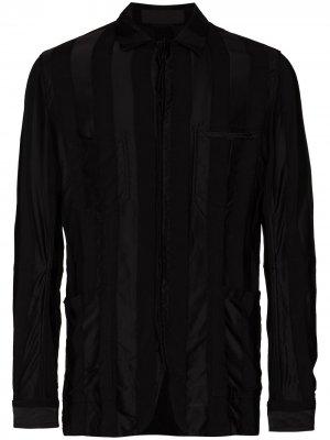 Полосатая куртка-рубашка Haider Ackermann. Цвет: черный