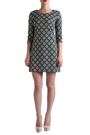 Платье EVA Milano. Цвет: зеленый