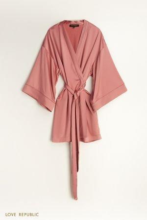 Халат-кимоно из атласа LOVE REPUBLIC