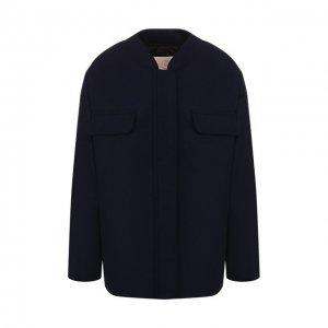 Шерстяная куртка Tela. Цвет: синий