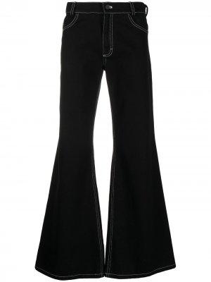 Расклешенные джинсы широкого кроя DUOltd. Цвет: черный