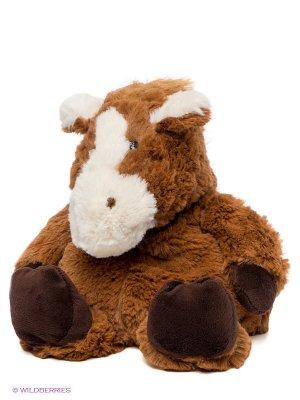 Игрушка-грелка Лошадка Cozy Plush. Цвет: коричневый, белый, темно-коричневый