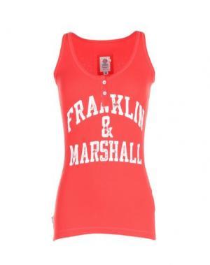Майка FRANKLIN & MARSHALL. Цвет: коралловый