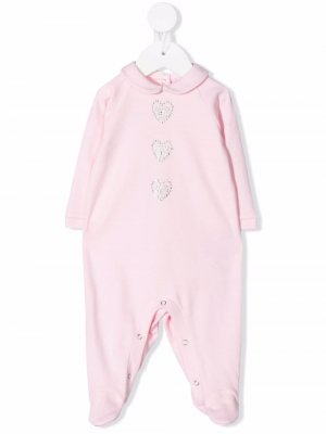 Пижама с декорированным логотипом Chiara Ferragni Kids. Цвет: розовый
