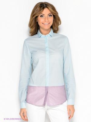 Блузка Colletto Bianco. Цвет: бирюзовый