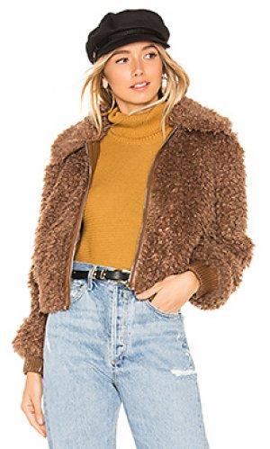 Куртка phoenix ASTR the Label. Цвет: коричневый