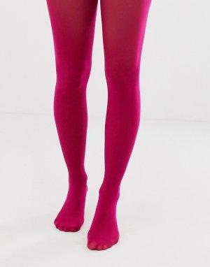 Ярко-розовые колготки плотностью 50 ден -Розовый ASOS DESIGN