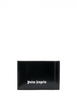 Картхолдер с логотипом Palm Angels. Цвет: черный