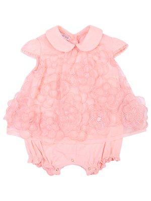 Платье-боди с цветами Blumarine. Цвет: розовый