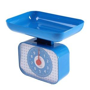 Весы кухонные luazon lvkm-1001, механические, до 10 кг, чаша 1200 мл, синие Home