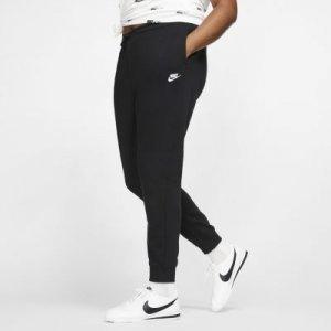 Женские флисовые брюки Nike Sportswear Essential (большие размеры) - Черный