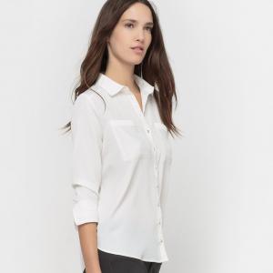 Рубашка Creme в мелкий золотистый горошек KARL MARC JOHN. Цвет: кремовый