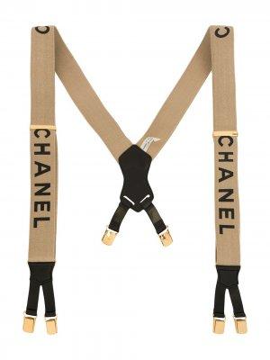Подтяжки с логотипом Chanel Pre-Owned. Цвет: нейтральные цвета