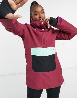Горнолыжная куртка-анорак сливового цвета Overstoke-Сиреневый Planks