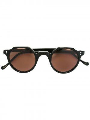 Солнцезащитные очки Heri Lesca. Цвет: черный