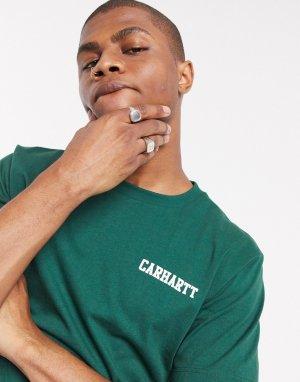 Зеленая футболка с логотипом -Зеленый Carhartt WIP