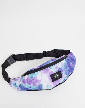 Фиолетовая сумка-кошелек мини на пояс с принтом тай-дай Ward-Фиолетовый цвет Vans