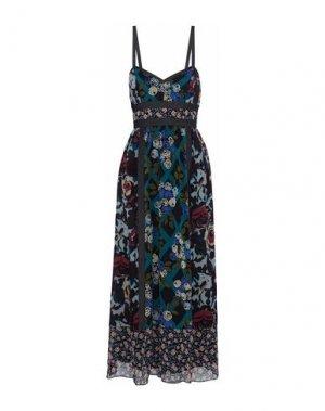 Длинное платье ANNA SUI. Цвет: темно-синий