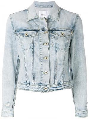 Джинсовая куртка с линялым эффектом Dondup. Цвет: синий
