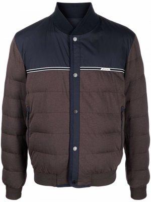 Two-tone padded jacket Z Zegna. Цвет: синий