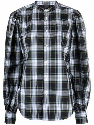 Клетчатая рубашка с объемными рукавами Polo Ralph Lauren. Цвет: синий