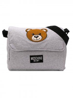 Сумка для мамы с пеленальным матрасом Teddy Bear Moschino Kids. Цвет: серый
