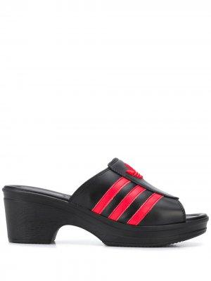 Босоножки Trefoil 70 adidas x lotta volkova. Цвет: черный