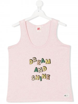 Топ со слоганом American Outfitters Kids. Цвет: розовый