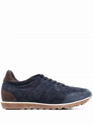 Кроссовки на шнуровке Alberto Fasciani. Цвет: синий
