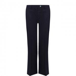 Укороченные расклешенные брюки из шерсти Kiton. Цвет: синий