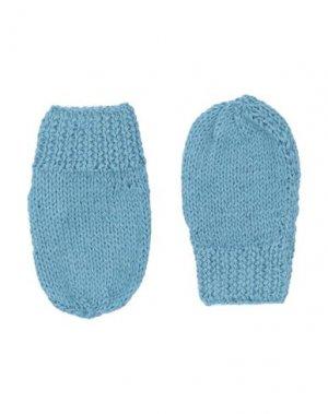 Перчатки CARAMEL. Цвет: пастельно-синий