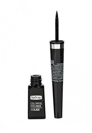 Подводка для глаз Isadora Colorful Eyeliner 10, 3,7 мл. Цвет: черный
