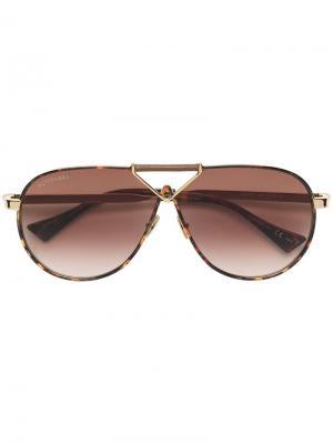 Aviator sunglasses Altuzarra. Цвет: золотистый