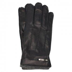 Кожаные перчатки Moreschi. Цвет: синий