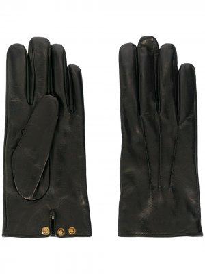 Перчатки на кнопках Gucci. Цвет: черный
