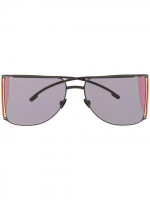 Солнцезащитные очки в массивной оправе Mykita. Цвет: черный