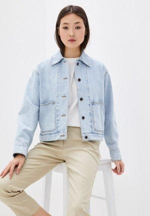 Куртка джинсовая Weekend Max Mara. Цвет: голубой