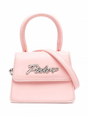 Сумка на плечо с логотипом Pinko Kids. Цвет: розовый