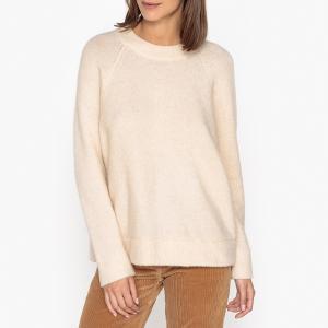 Пуловер с круглым вырезом из тонкого трикотажа SAMSOE AND. Цвет: экрю
