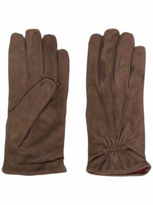 Кашемировые перчатки Barba. Цвет: коричневый