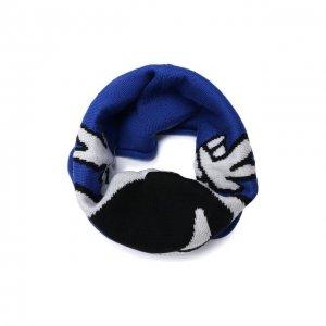 Шерстяной шарф-снуд Catya. Цвет: синий