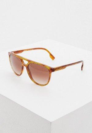 Очки солнцезащитные Burberry 0BE4302 382313. Цвет: коричневый