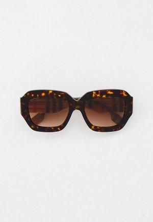 Очки солнцезащитные Burberry BE4334 393013. Цвет: коричневый