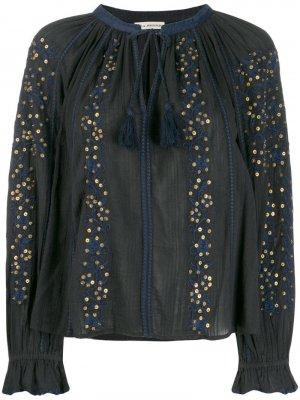 Блузка с кисточками Ulla Johnson. Цвет: черный