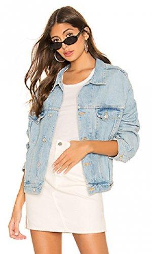 Джинсовая куртка charli AGOLDE. Цвет: синий