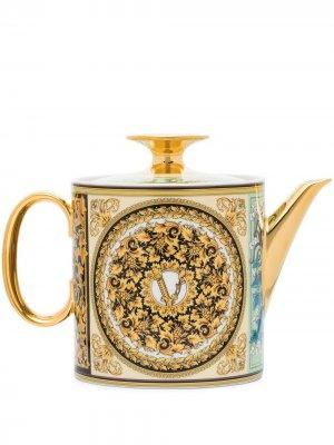 Чайник Barocco Mosaic (0.9 л) Versace Tableware. Цвет: золотистый