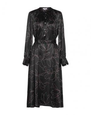 Платье длиной 3/4 EQUIPMENT. Цвет: черный