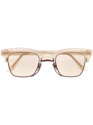 Солнцезащитные очки N6 в оправе кошачий глаз Kuboraum. Цвет: коричневый